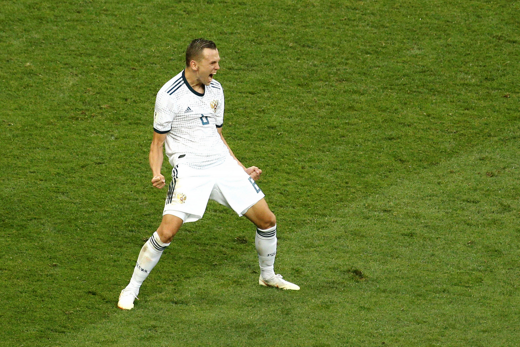 Denis Cheryshev came on a substitute and scored one of Russia's penalties ©Getty Images