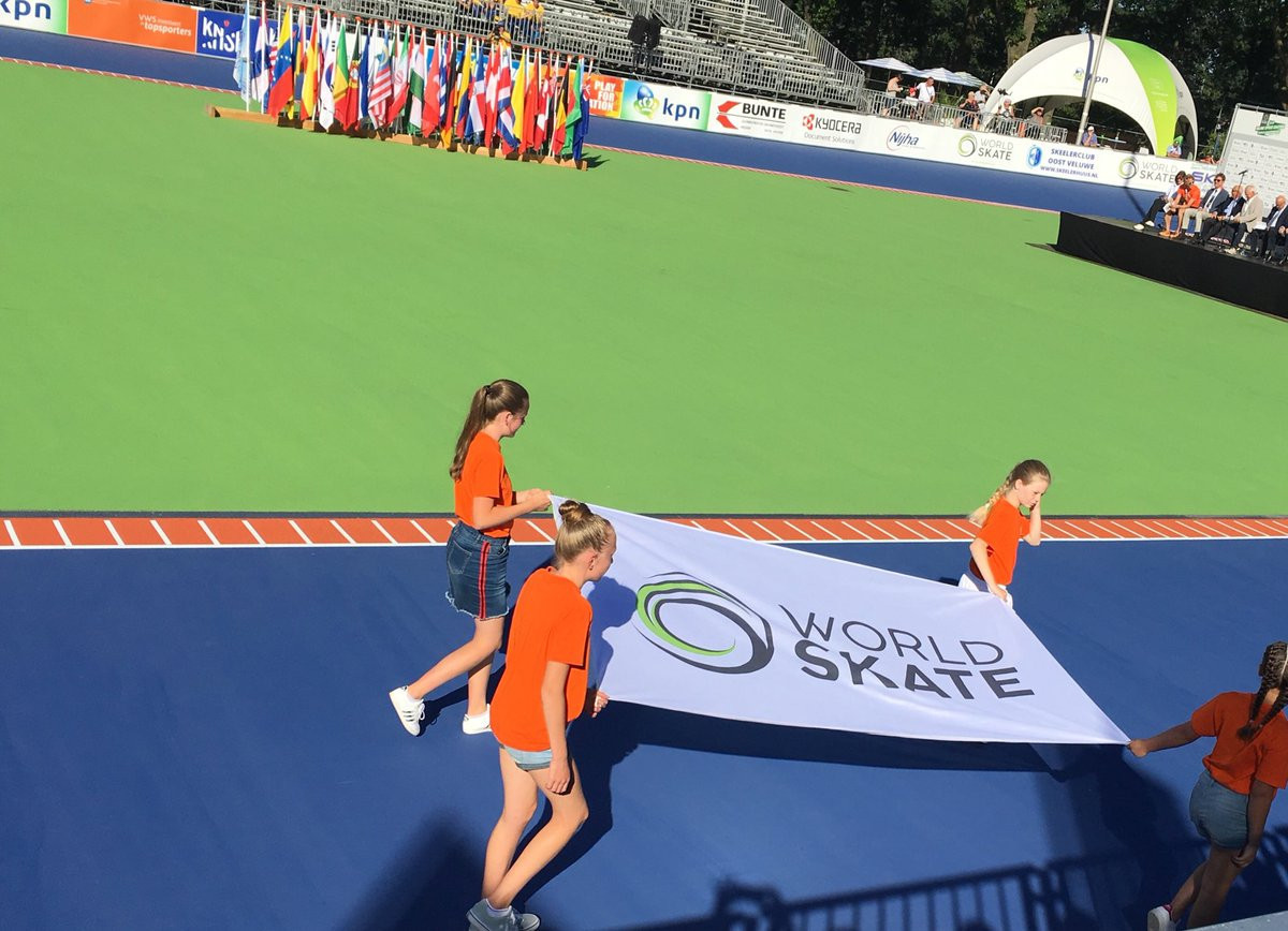 An Opening Ceremony took place before action began at the Inline Speed Skating World Championship ©World Skate