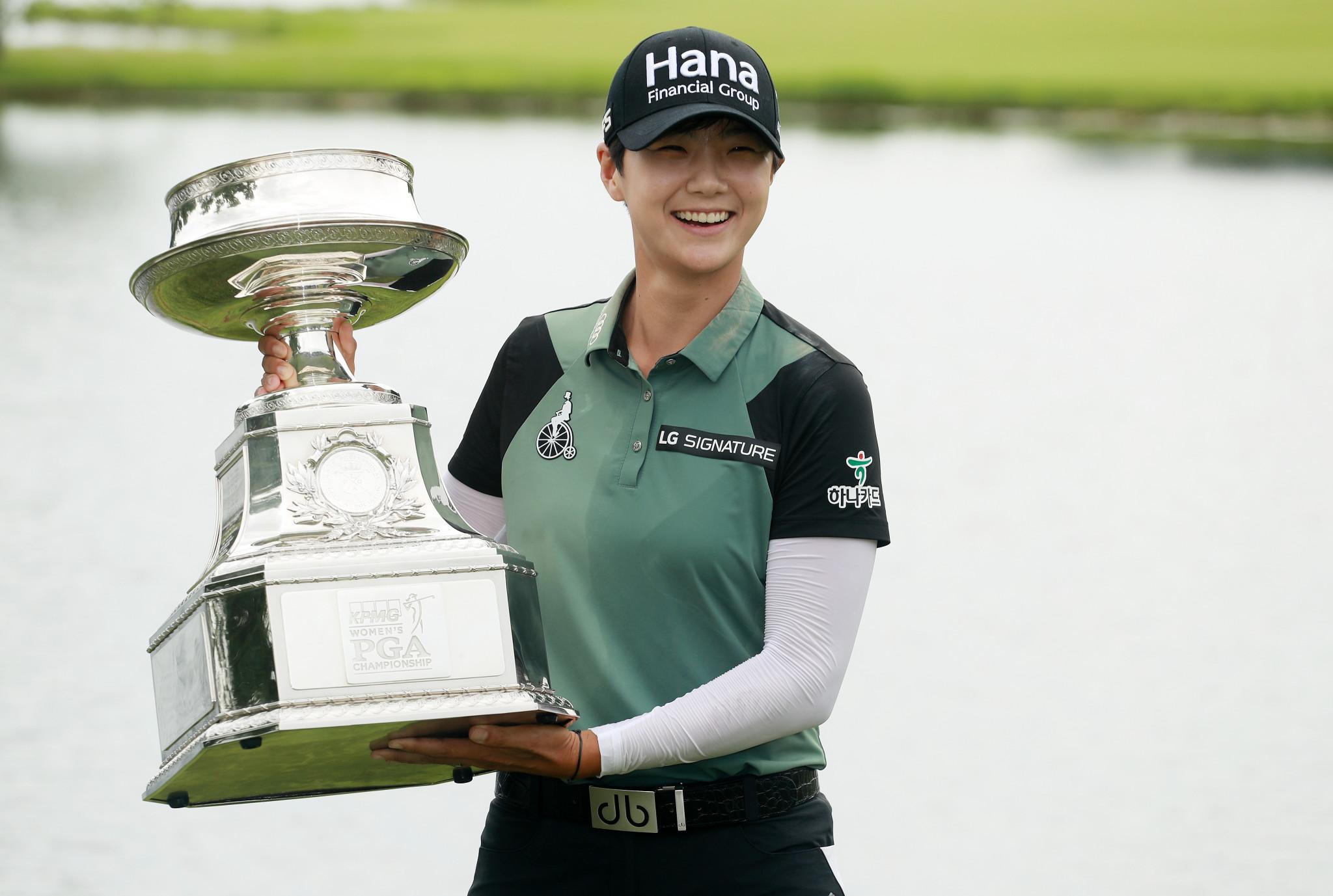 Sung Hyun Park takes KPMG Women's PGA title after three-way playoff at Kemper Lakes