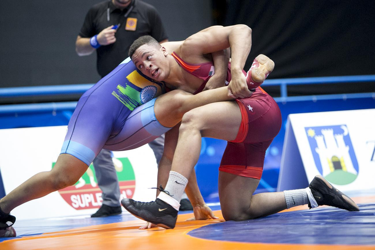 Four countries have two chances for gold after day one of UWW Cadet World Championships