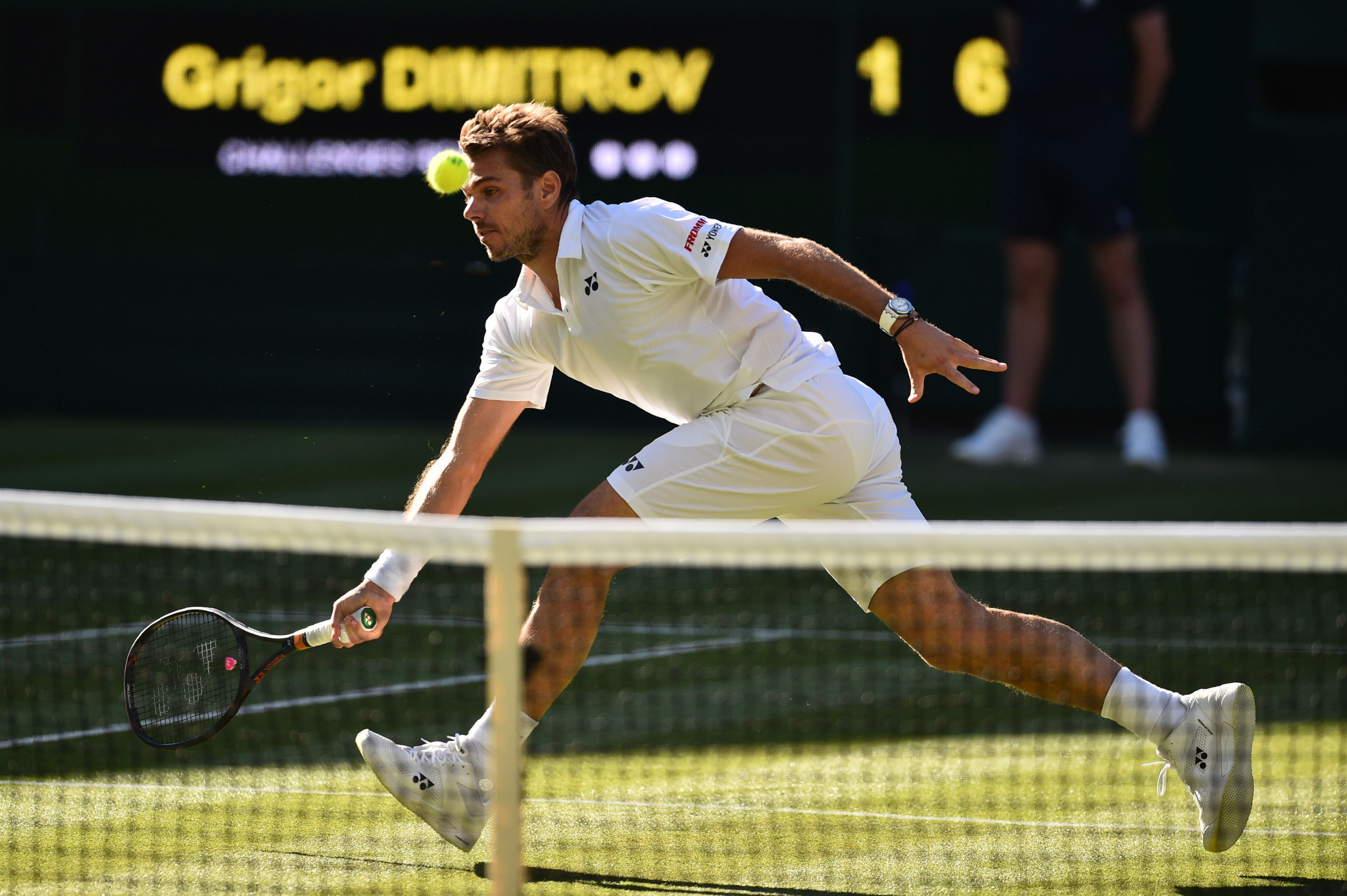 Switzerland's Stan Wawrinka came from a set down to beat Bulgaria's sixth seed Grigor Dimitrov in the game of the day as Wimbledon 2018 begun ©Getty Images