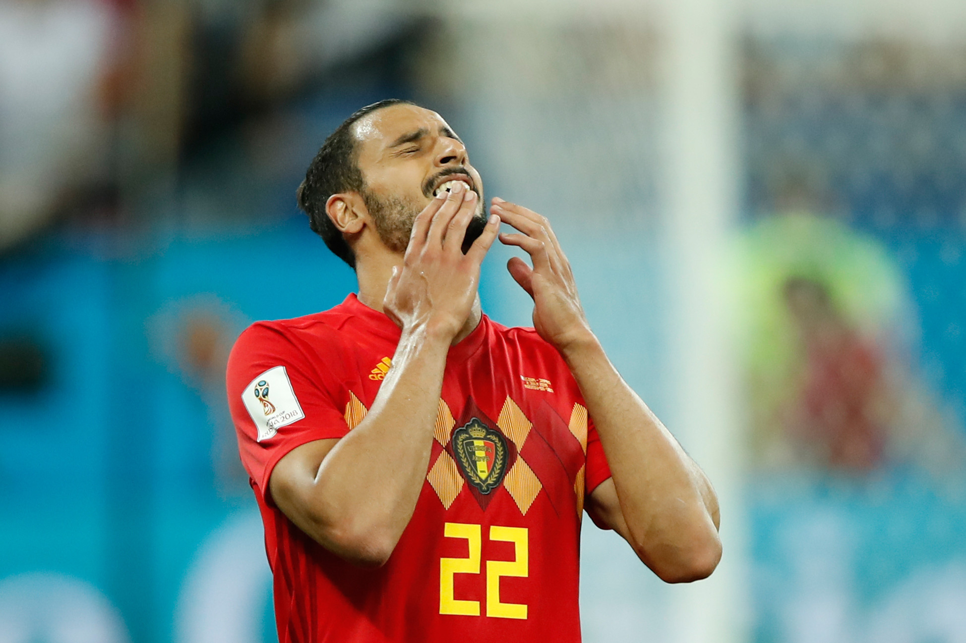 Chadli scores injury-time winner as Belgium beat Japan to set up FIFA World Cup quarter-final with Brazil