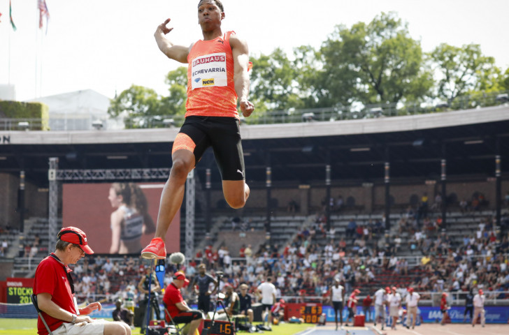 Juan Miguel Echevarria of Cuba, 19, electrified the sport with his 8.83m long jump at last month's IAAF Diamond League meeting in Stockholm's 1912 Olympic Stadium ©Getty Images