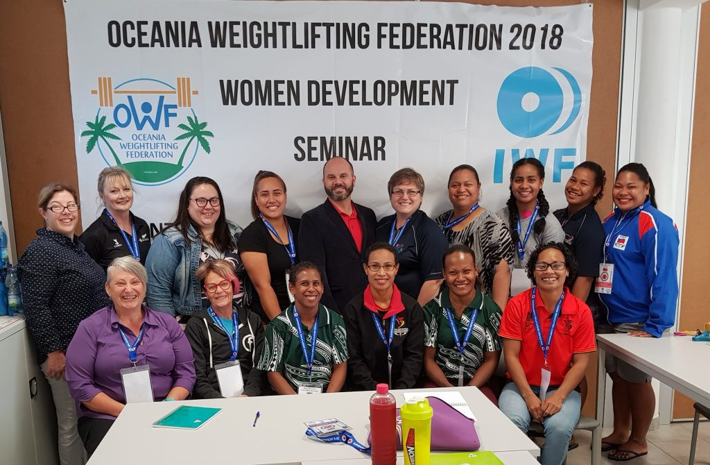 A women's development seminar also took place in New Caledonia ©IWF
