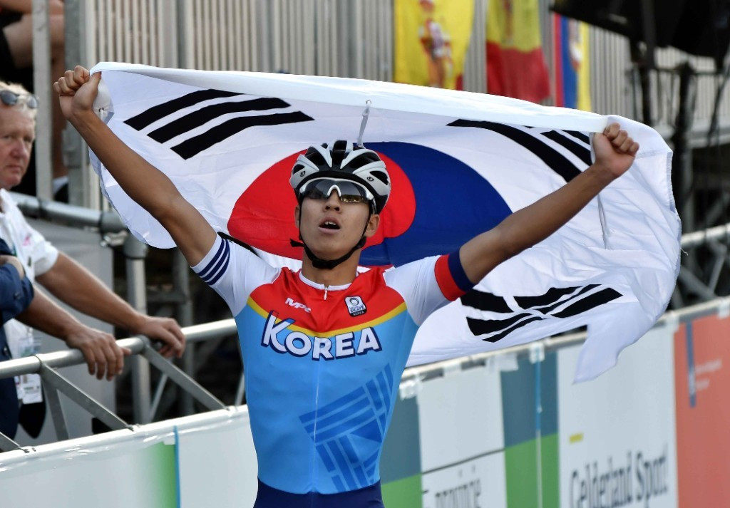 South Korea's Jongjin Cheon was won of the minority of non-Colombian athletes to claim a gold medal today ©World Skate