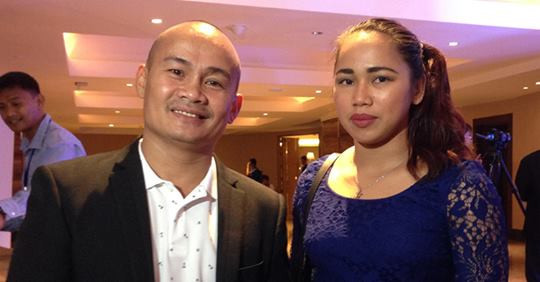 Olympic silver medallists from The Philippines honoured at awards in Manila
