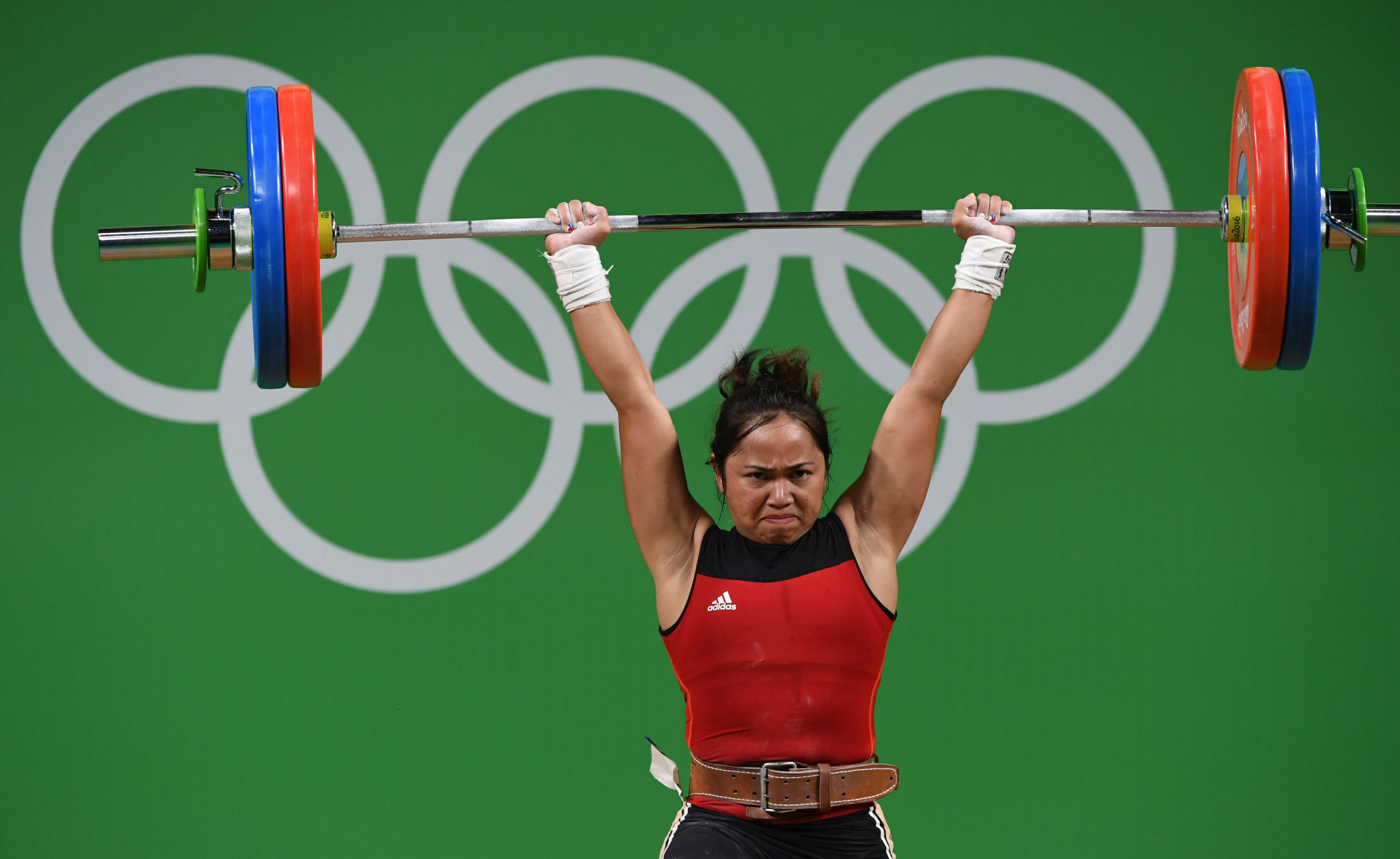 Hidilyn Diaz won a silver medal in weightlifting at the 2016 Olympics in Rio de Janeiro ©Getty Images