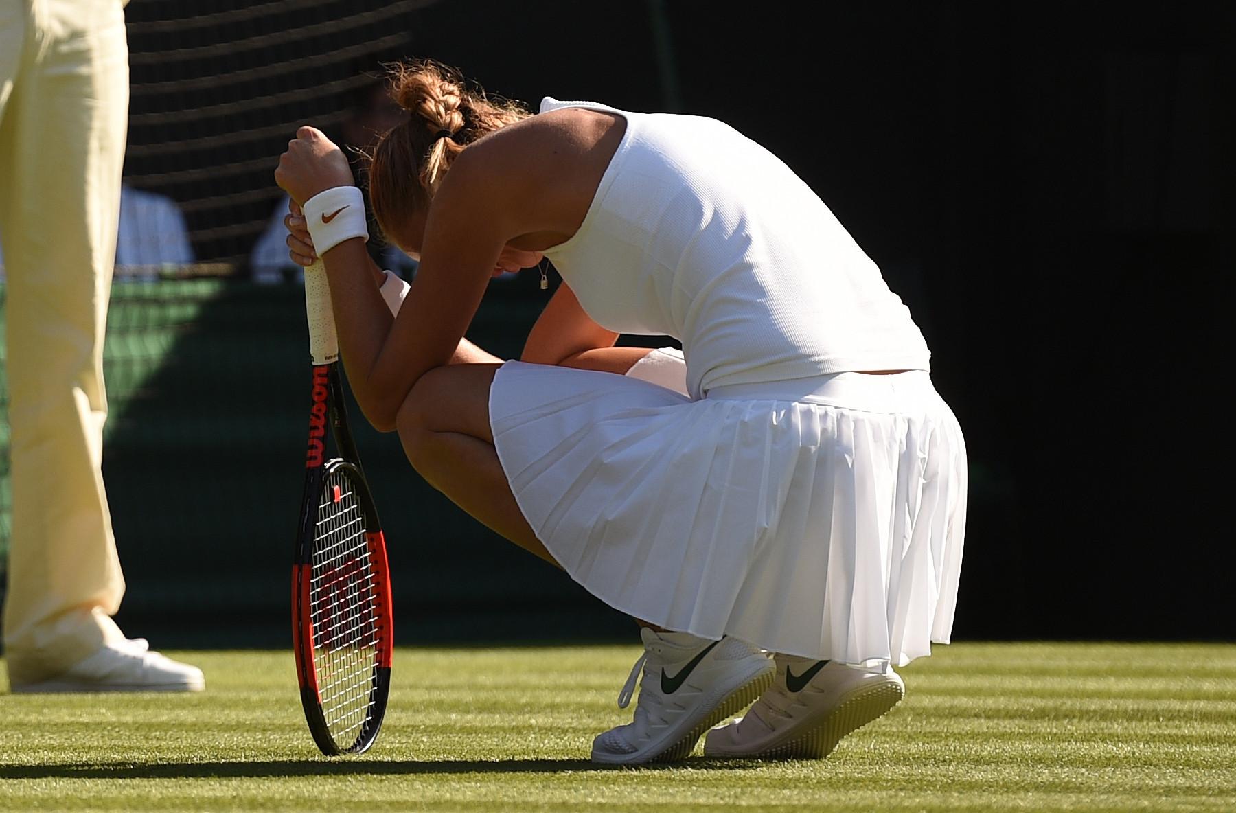Two-time Wimbledon champion Kvitova falls to first round defeat