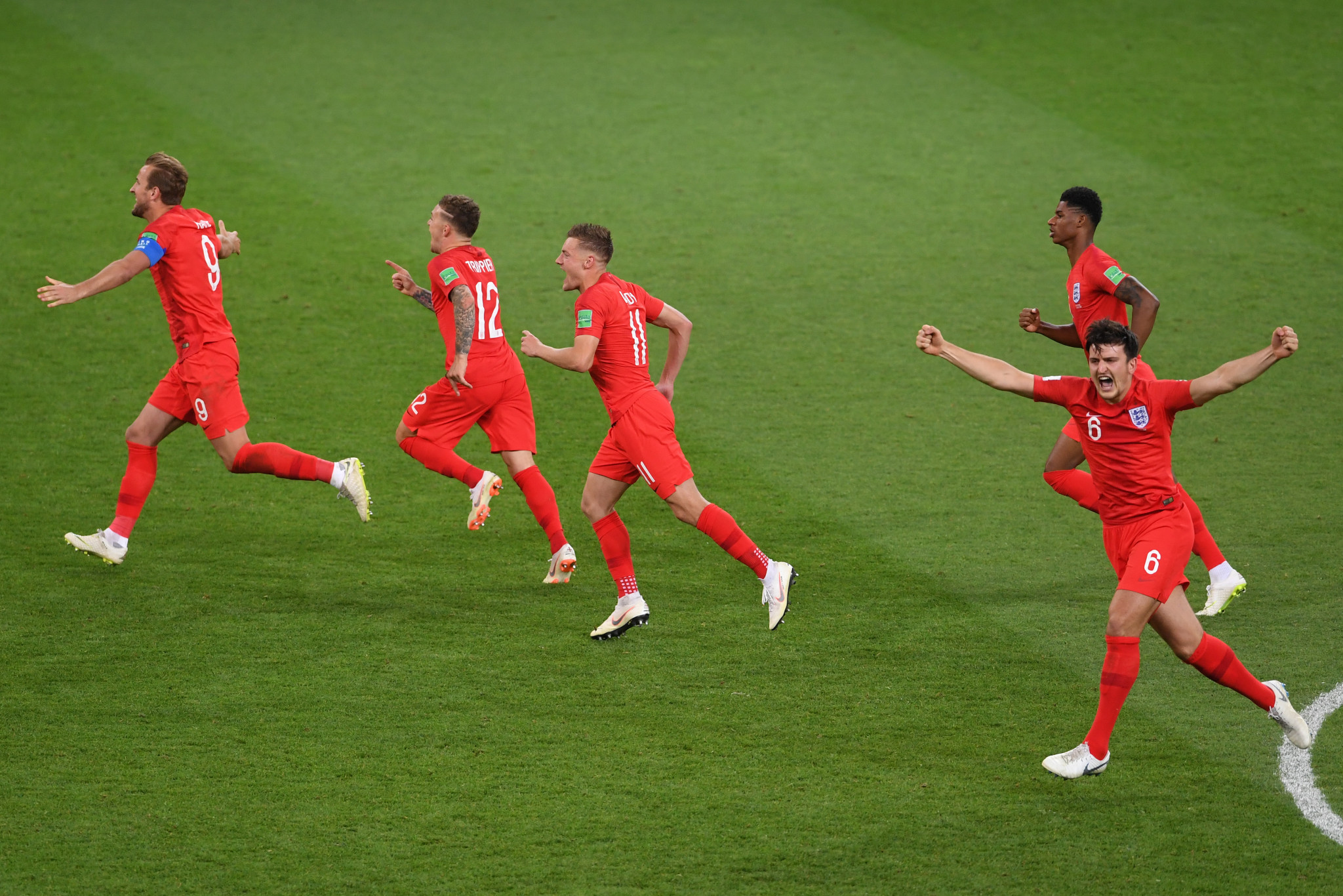 England win first World Cup penalty shoot-out to set up FIFA World Cup quarter-final meeting with Sweden