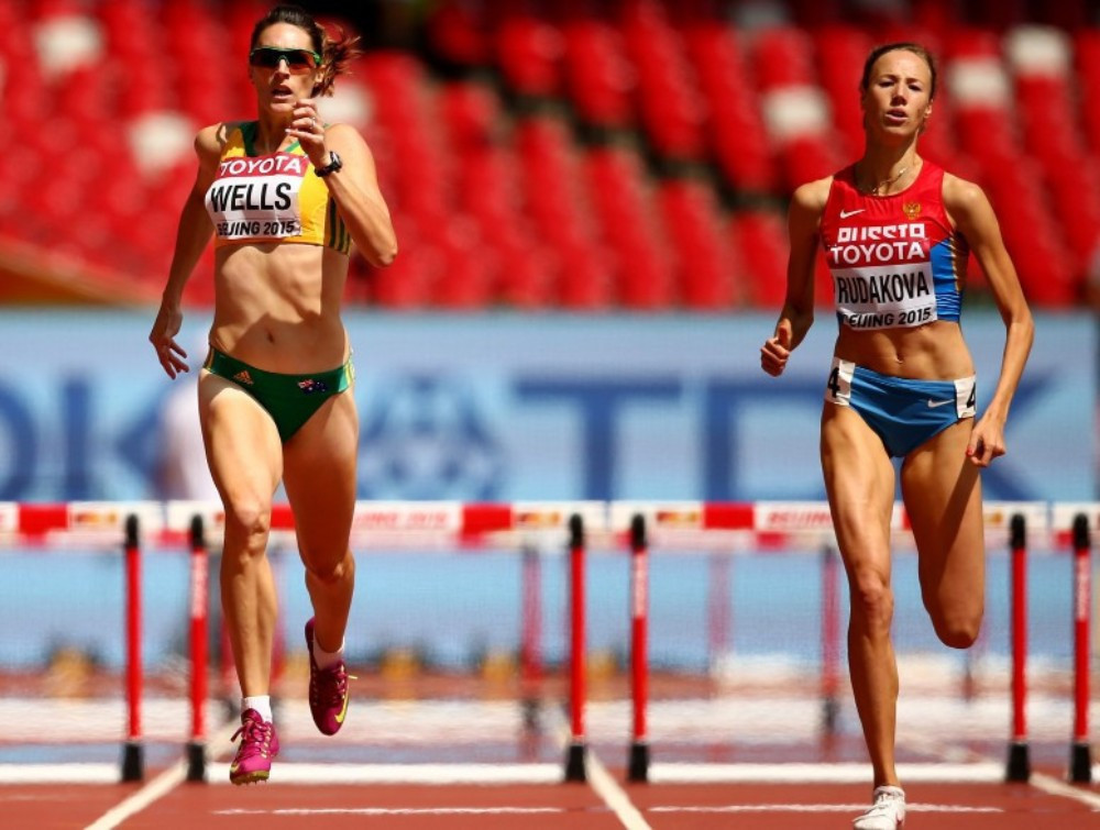 Vera Rudakova, right, will be able to compete internationally as a neutral athlete ©Getty Images