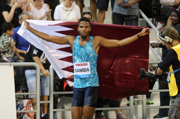 Abderrhman Samba will miss this season's IAAF Diamond League final in order to represent Qatar at the Asian Games ©Getty Images