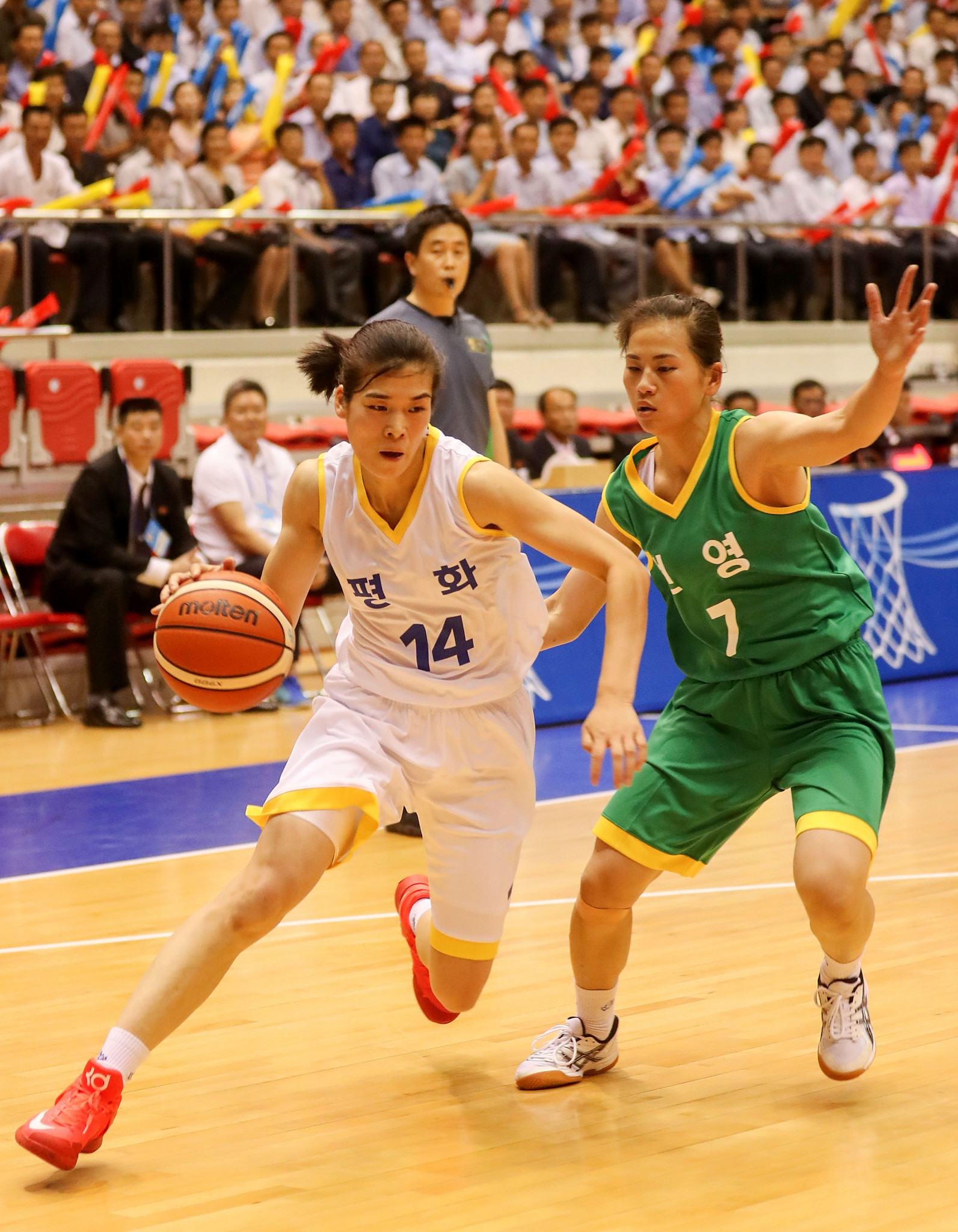 Joint Korean basketball match gives taster of Asian Games team