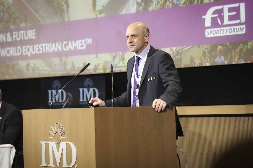 FEI director of games and championships Tim Hadaway highlighted that changes needed to be made to the World Equestrian Games ©FEI/Germain Arias-Schreiber