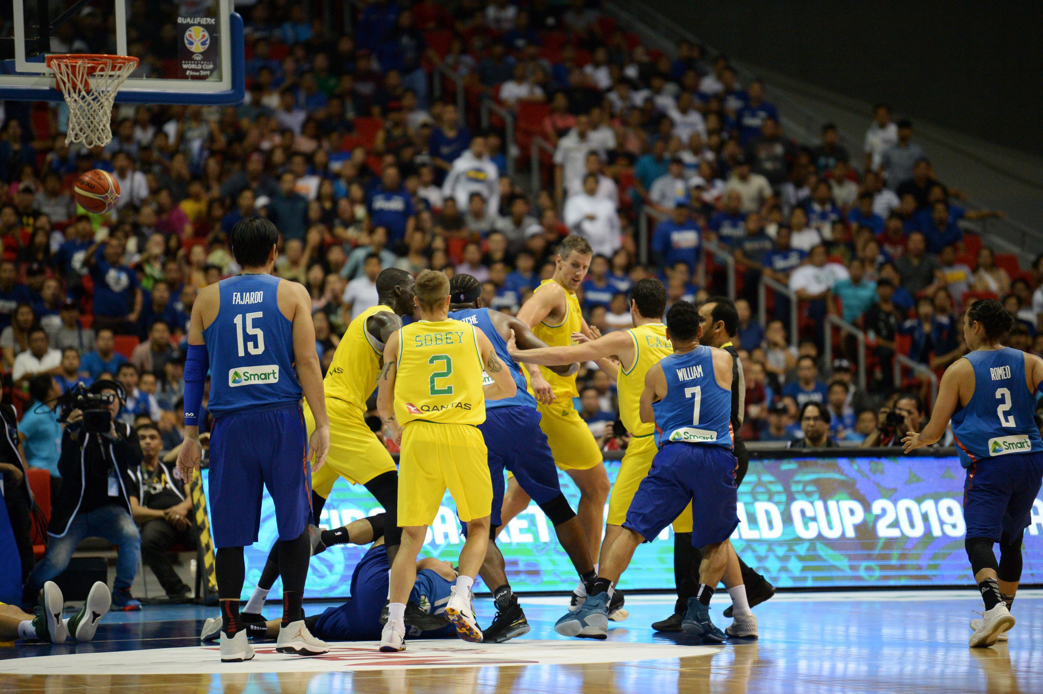 Australia and Philippines basketball federations continue to apologise following mass fight