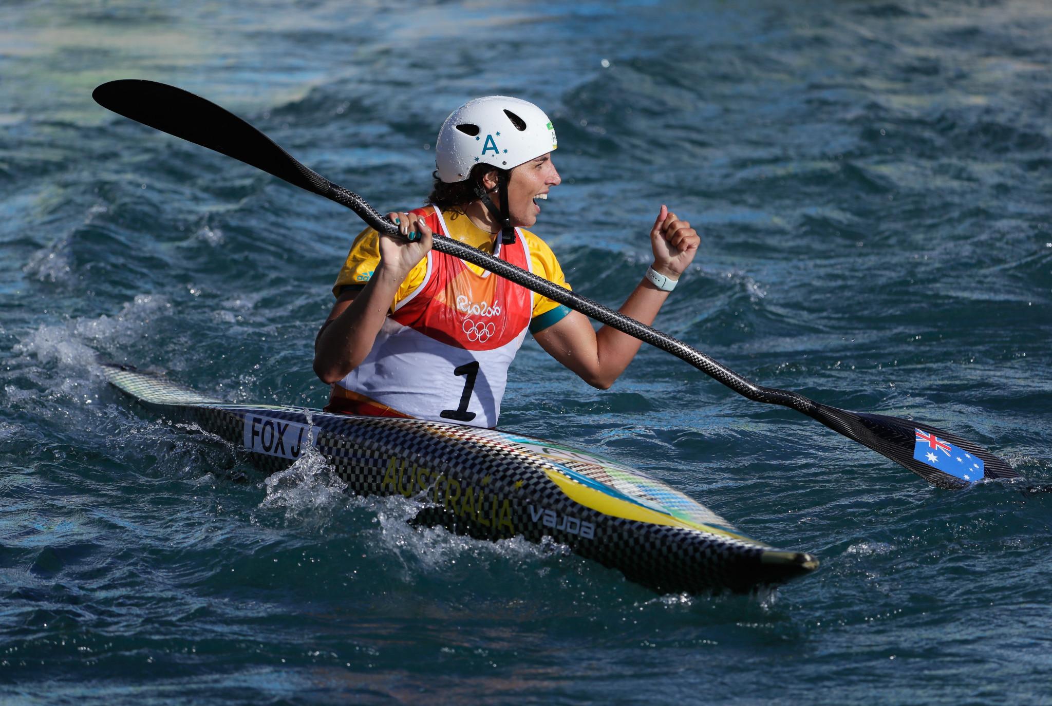 Fox seeks to maintain winning streak at ICF Canoe Slalom World Cup
