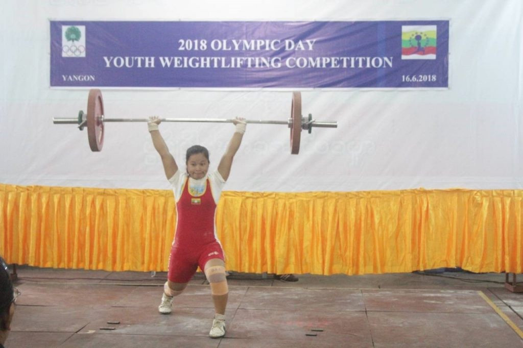 Myanmar Weightlifting Federation host youth event for Olympic Day