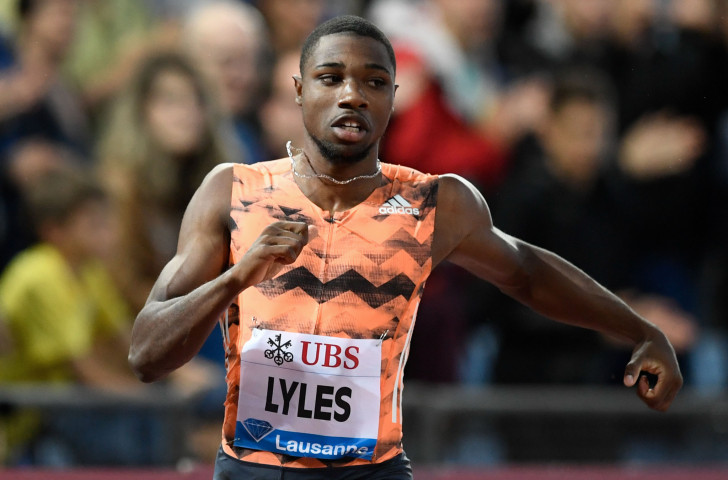 Noah Lyles of the United States equalled his 2018 world-leading 19.69sec time in winning the 200m at the IAAF Diamond League in Lausanne  ©Getty Images