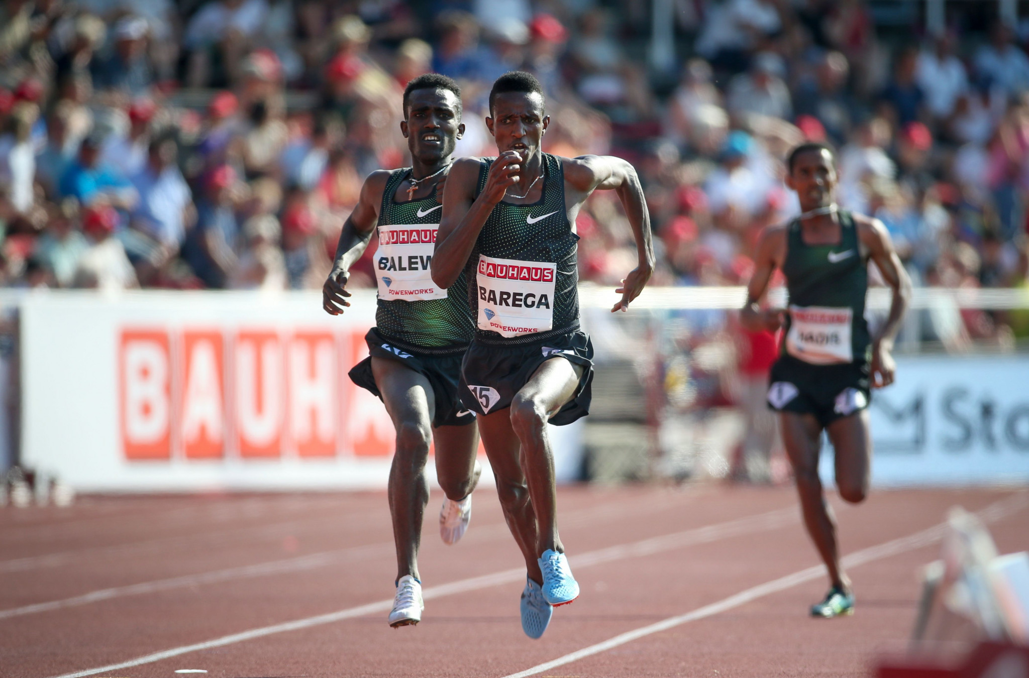 Selemon Barega. pictured in Stockholm, was hauled out of contention by fellow Ethiopian Yomif Kejelcha at tonight's IAAF Diamond League meeting in Lausanne ©Getty Images