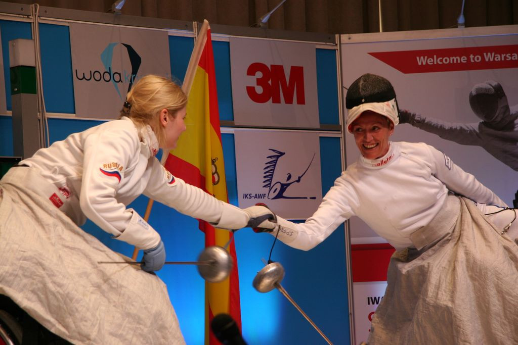 Women's épée competition was held today ©Wheelchair Fencing/Twitter