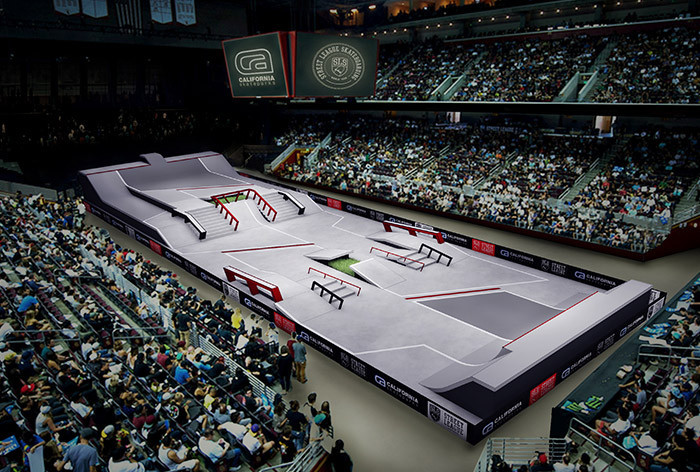 Los Angeles is hosting a street league skateboarding event ©Street League Skateboarding