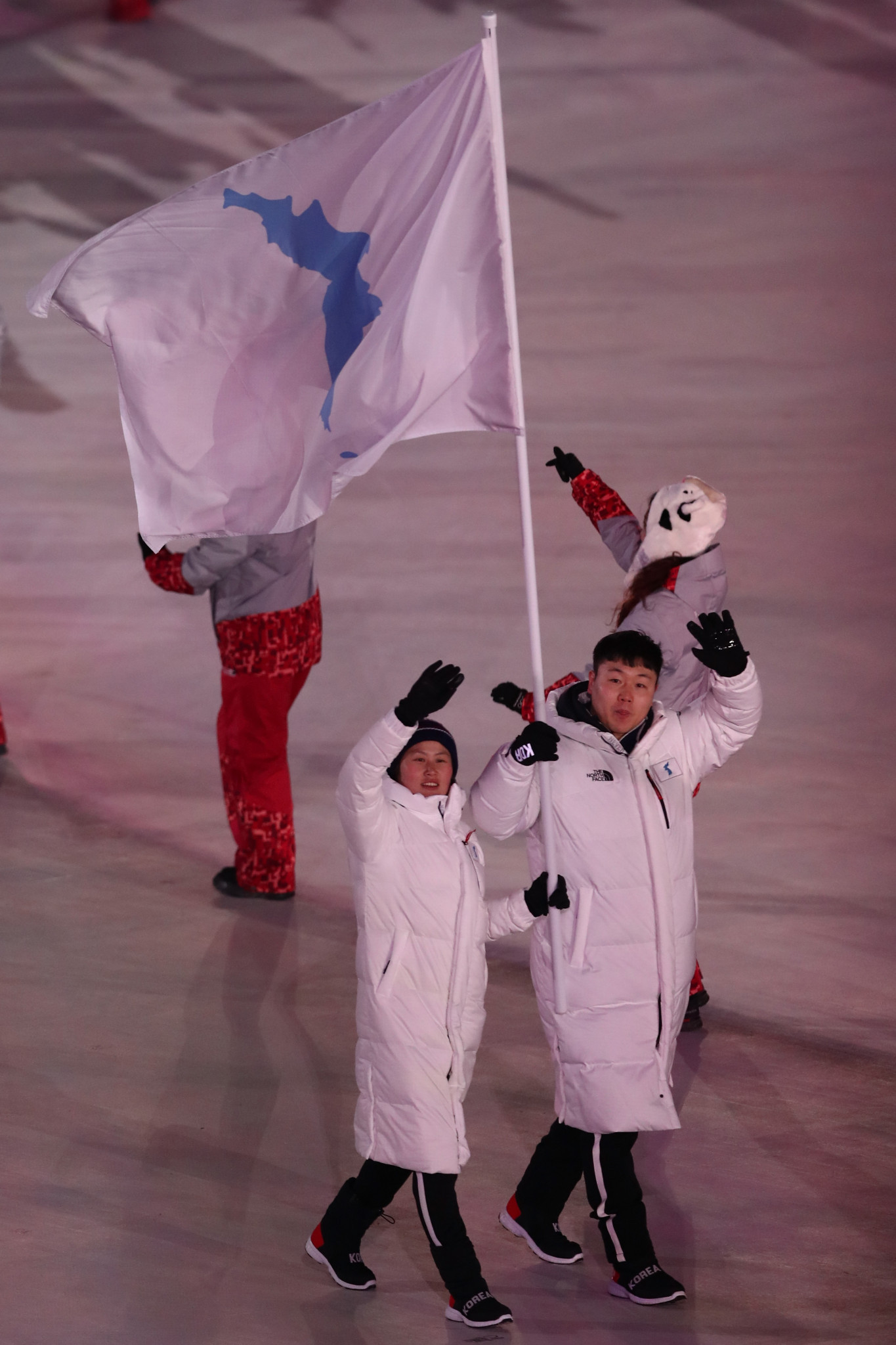 North and South Korea marched together at the Opening Ceremony of the 2018 Winter Olympic Games in Pyeongchang and formed an unified women's ice hockey team ©Getty Images