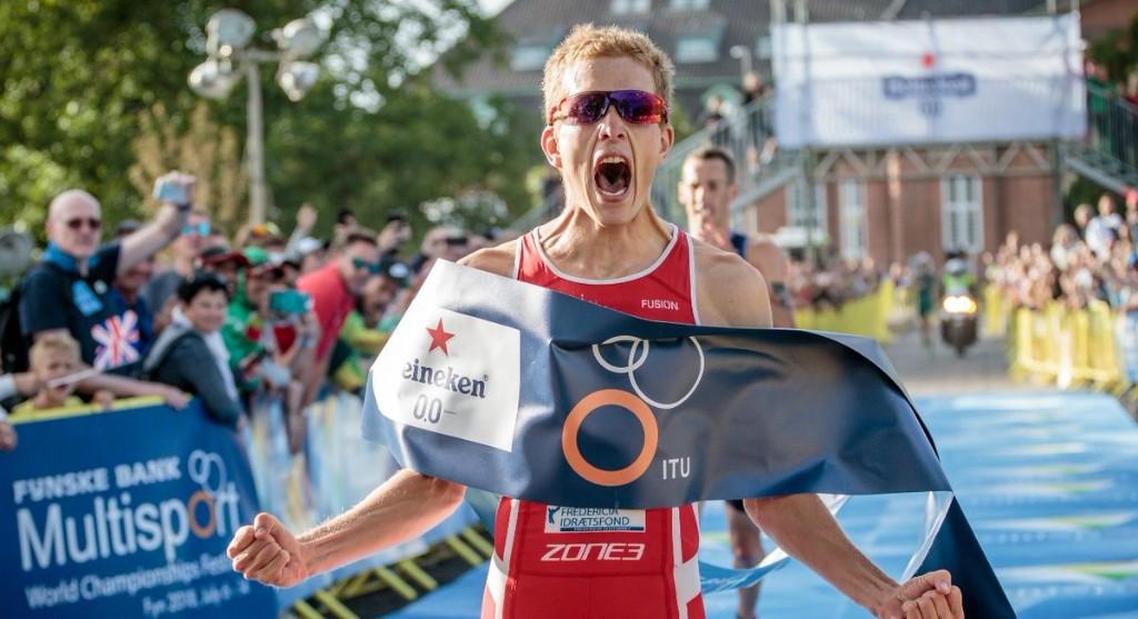 Schilling wins duathlon title at ITU Multisport World Championships