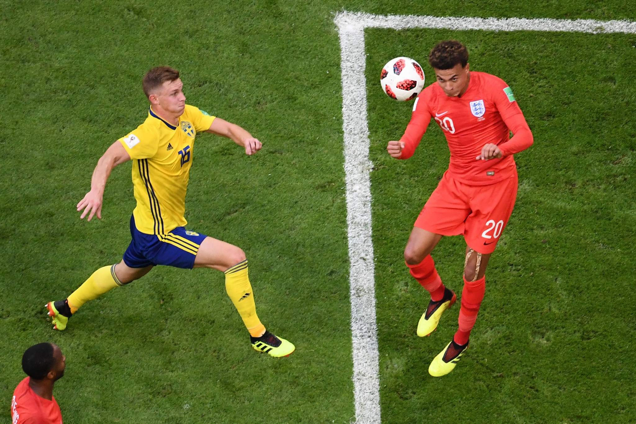 Dele Alli headed home the second goal for England against Sweden ©Getty Images