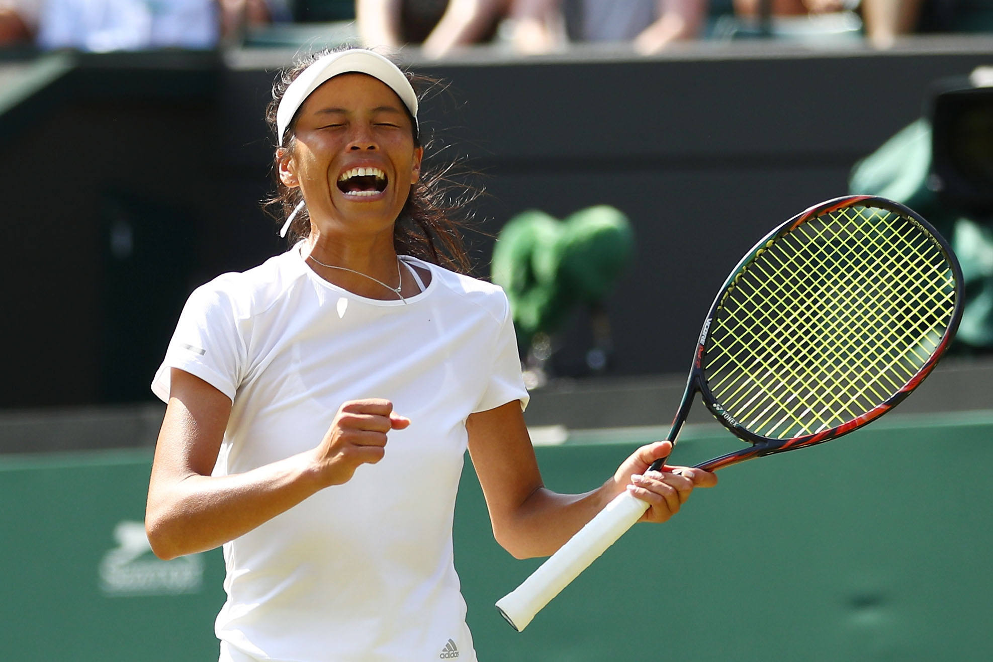 Taiwan's Hsieh Su-wei stunned Romania's Simona Halep to knock the women's number one seed out of Wimbledon ©Getty Images
