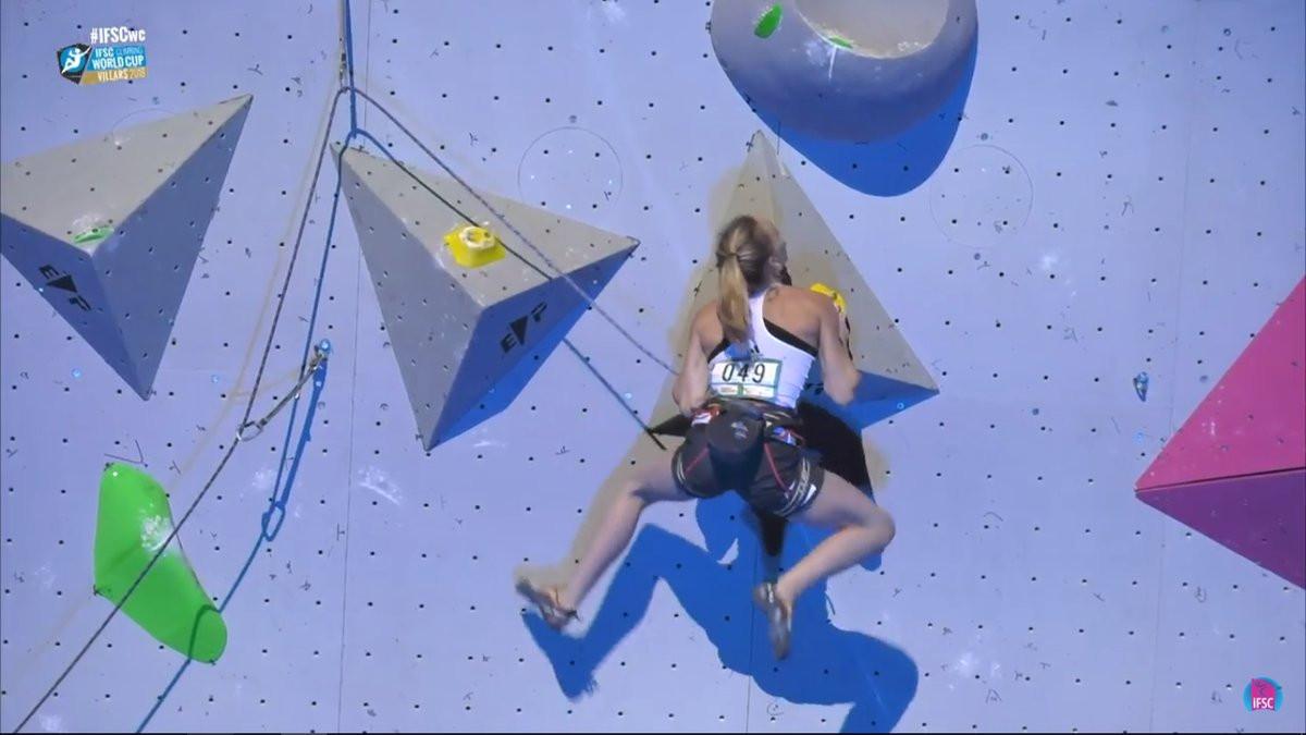 Janja Garnbret of Slovenia won the women's lead event ©ISFC