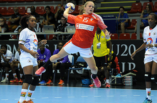 Denmark, defending champions in the Women's Junior World Handball Championships in Debrecen, went top of Group C with another win - this time over Romania ©IHF
