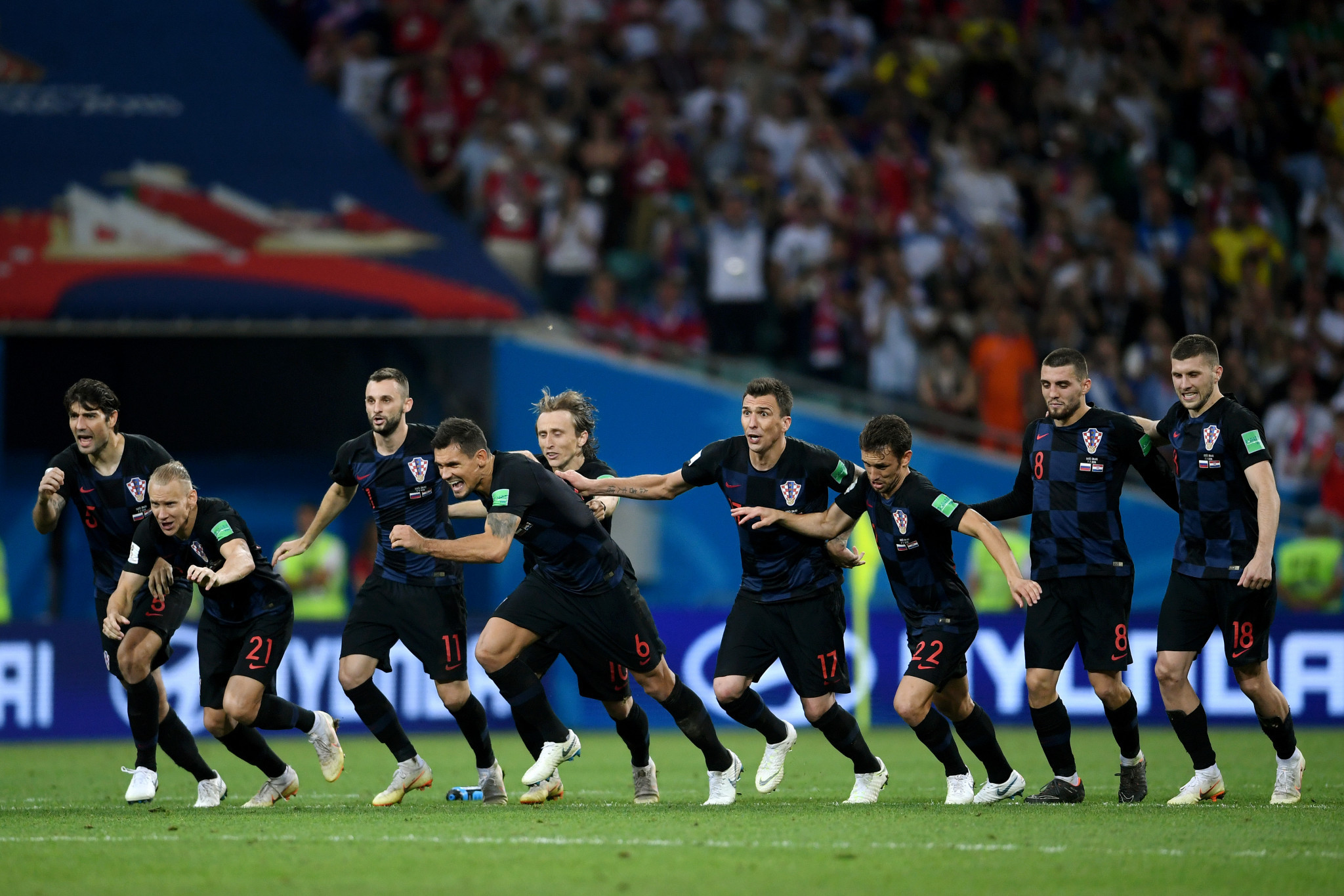 Croatia celebrate penalty shootout success ©Getty Images