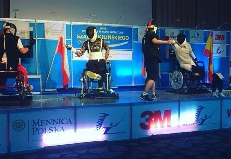 Action has been continuing at the IWAS Wheelchair Fencing World Cup in Warsaw ©IWAS