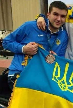 Paralympic champion Andrii Demchuk had to settle for bronze at the IWAS Wheelchair Fencing World Cup ©Ukraine Paralympic Fencing Team/ Facebook
