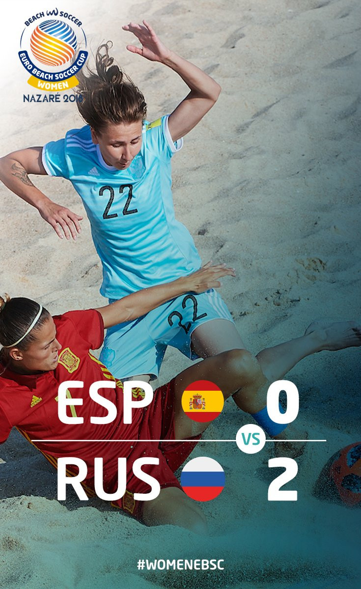 Russia beat Spain in Women's Euro Beach Soccer Cup final
