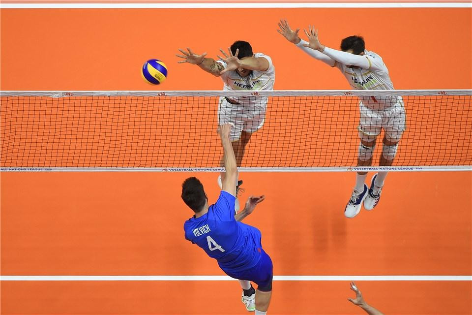 Russia were crowned inaugural winners of the tournament by beating France in today's final in Lille ©FIVB