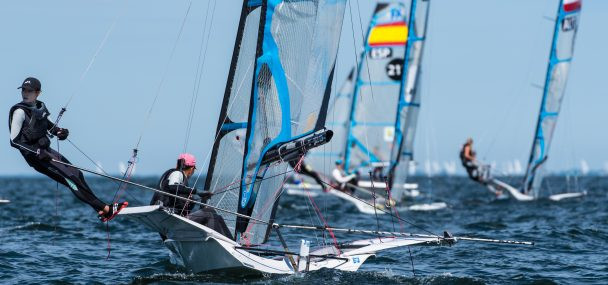 Jensen back and winning at European Sailing Championships after two years away from 49er class