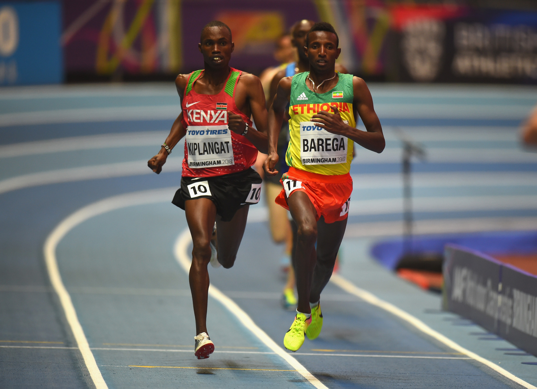 Selemon Barega, right, is among top athletes set to compete ©IAAF