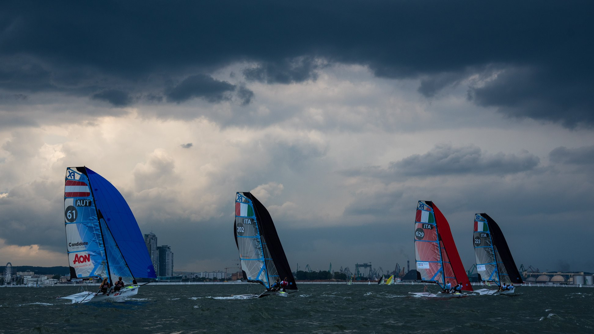 Bildstein and Hussl take 49er class lead at European Championships