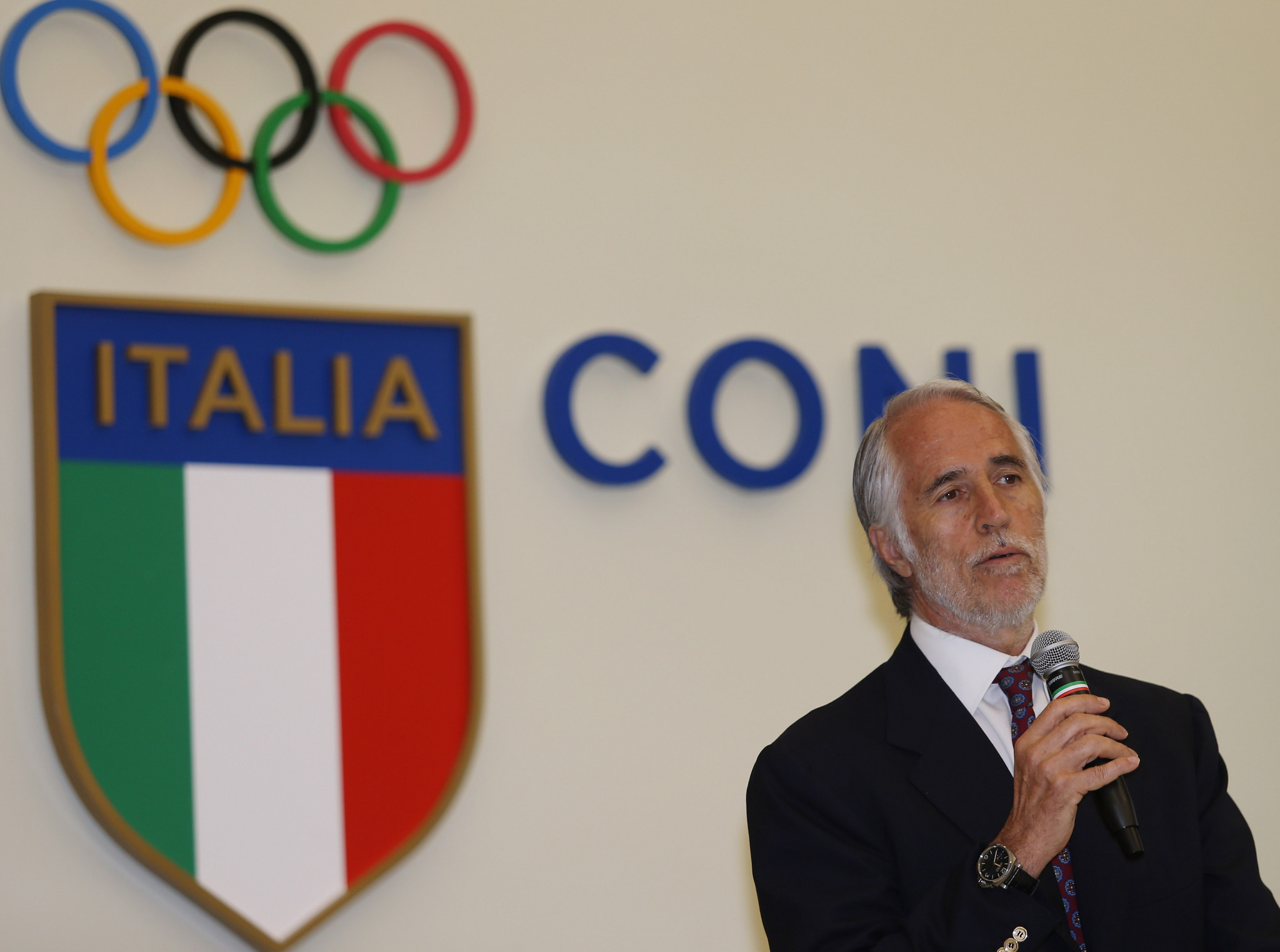 Giovanni Malago will chair the key CONI meeting tomorrow ©Getty Images