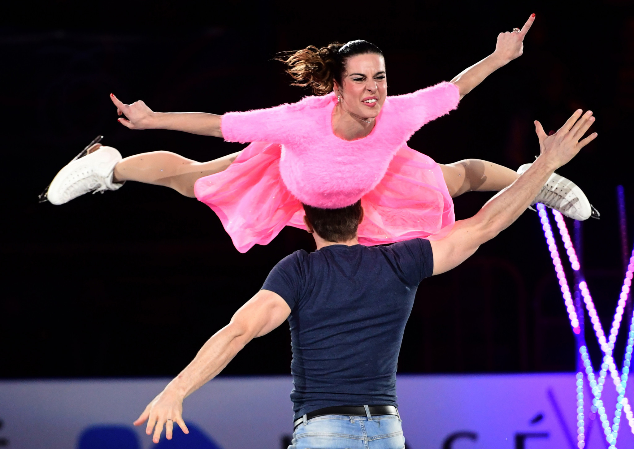Figure skater Valentina Marchei, top, is also among figures assessing the three bids ©Getty Images