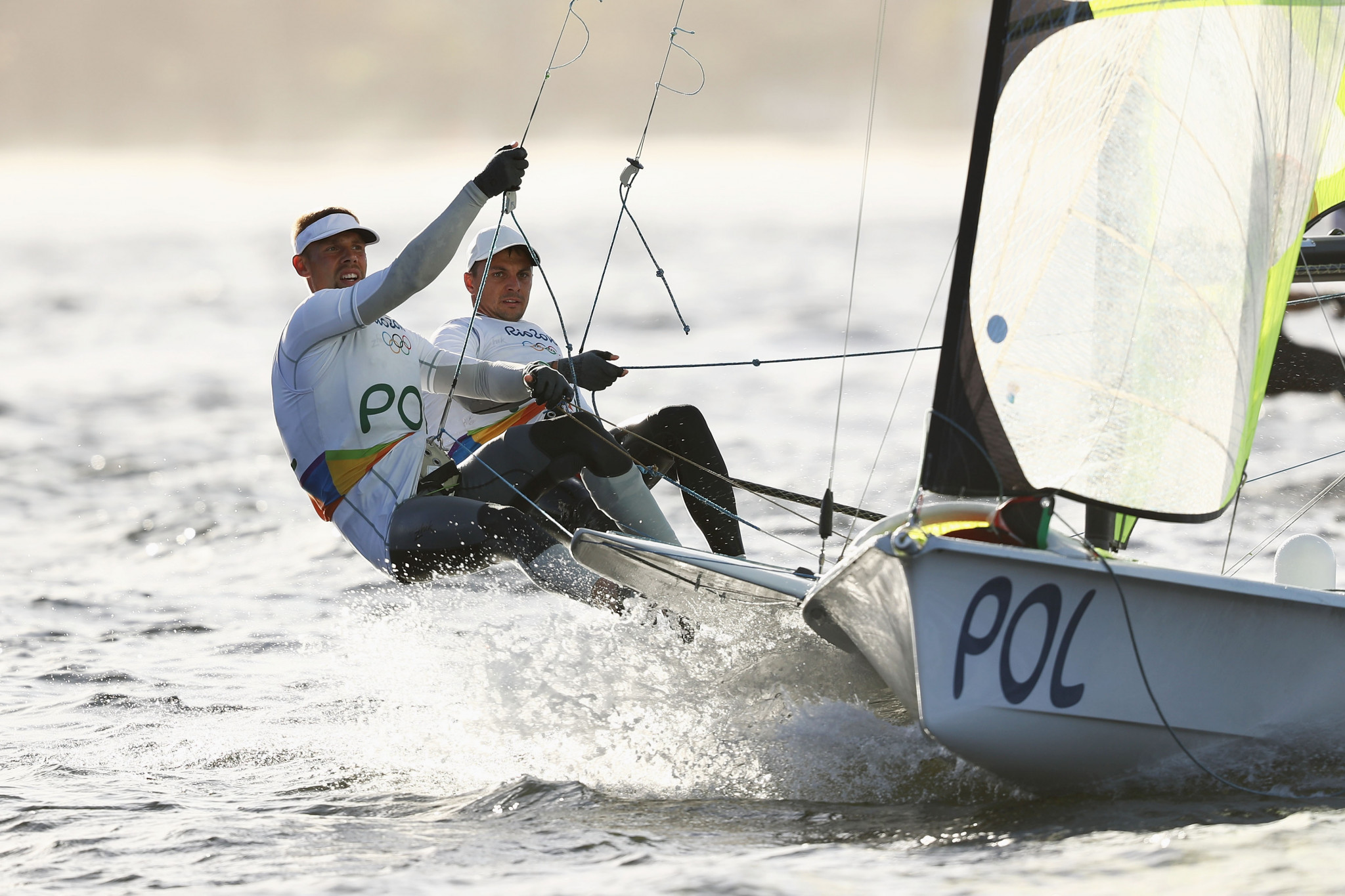Przybytek and Kolodzinski rise into 49er lead at European Championships
