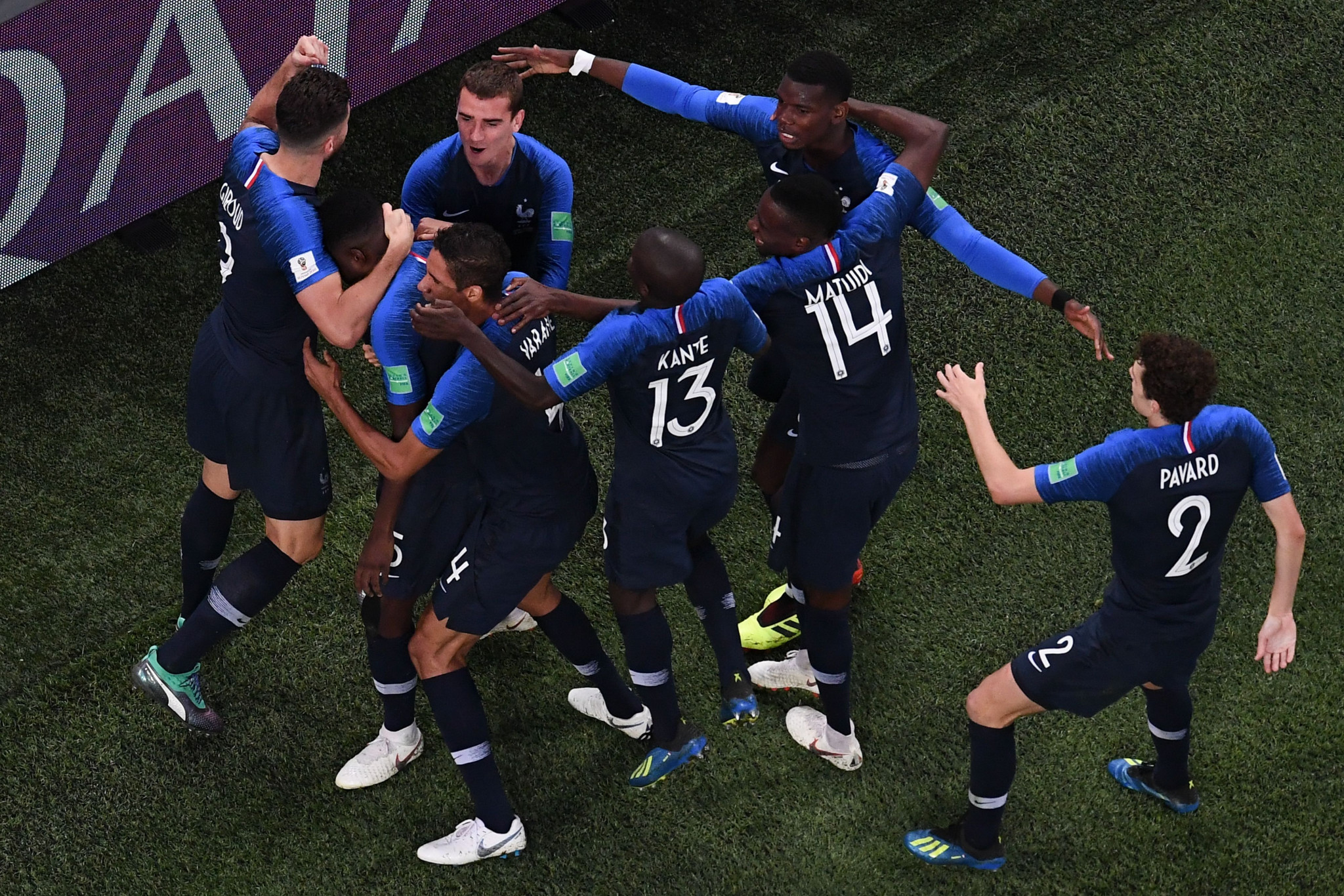 France celebrate reaching the final of the FIFA World Cup ©Getty Images