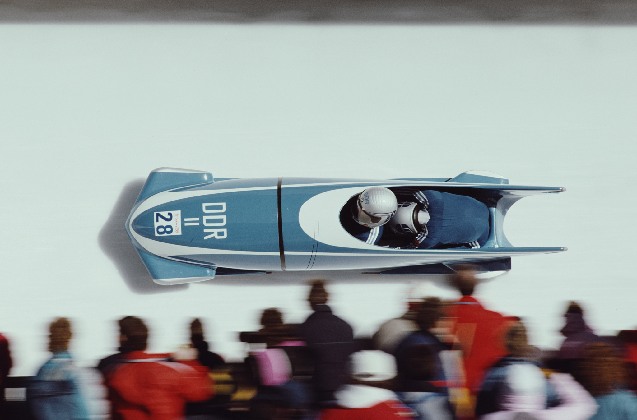 Germany's Olympic gold medal-winning bobsledder Bernhard Lehmann, pictured competing at Calgary 1988, is supporting the initiative to try to revive the sport in Denmark ©Getty Images