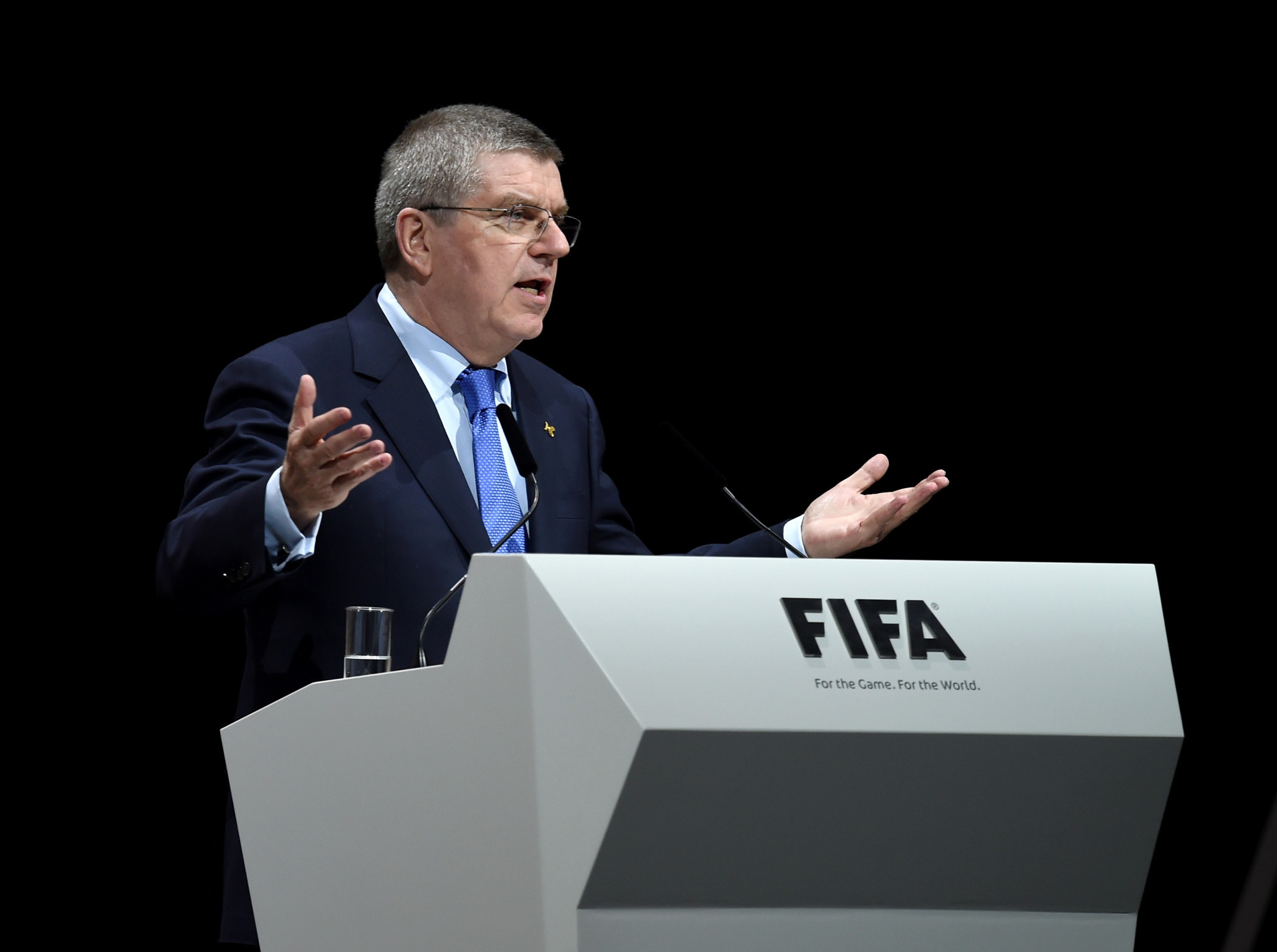 IOC President Thomas Bach will attend the FIFA World Cup final in Moscow ©Getty Images