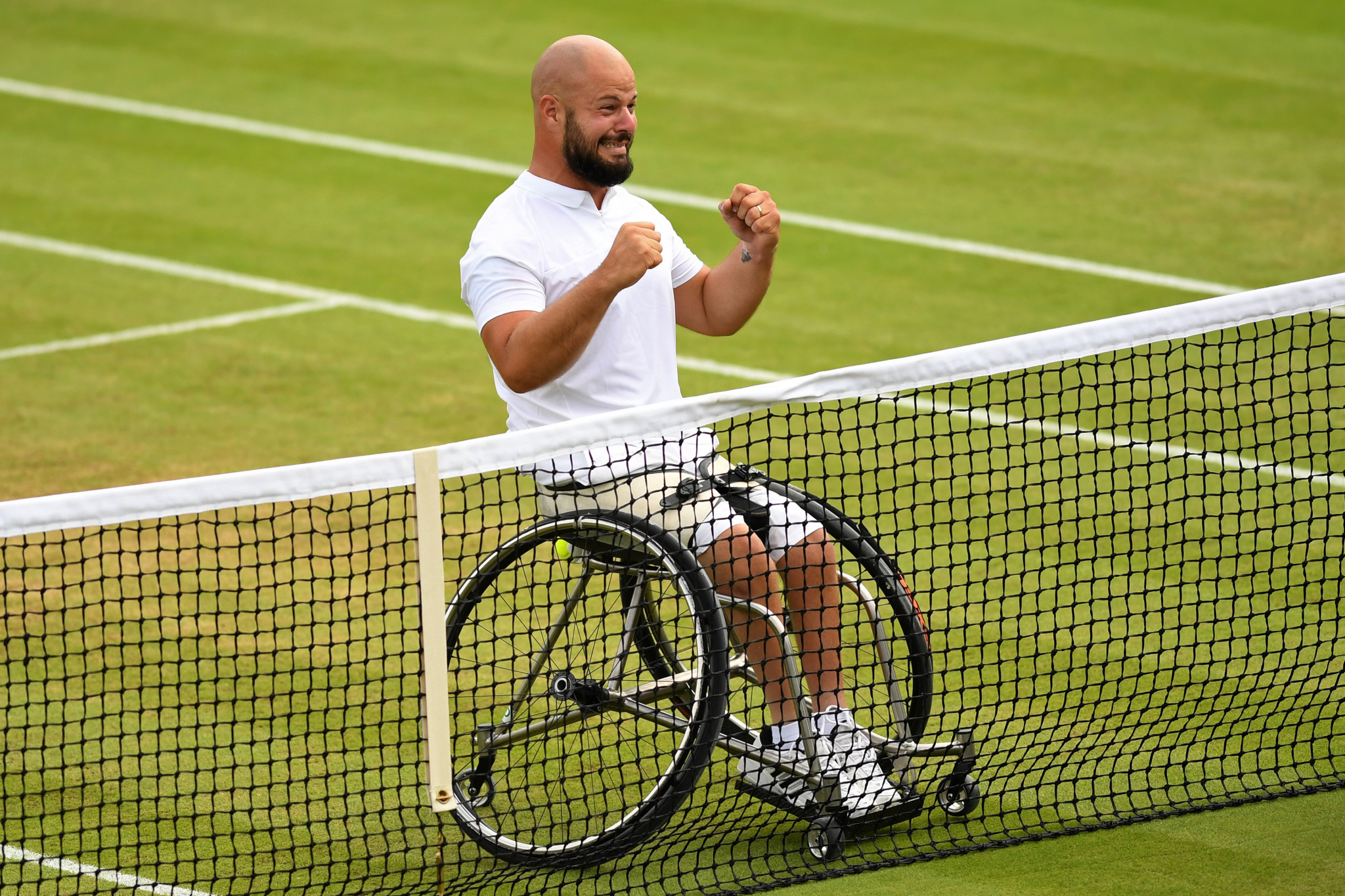 Sweden's Stefan Olsson won the men's wheelchair tennis event at Wimbledon last year ©Getty Images