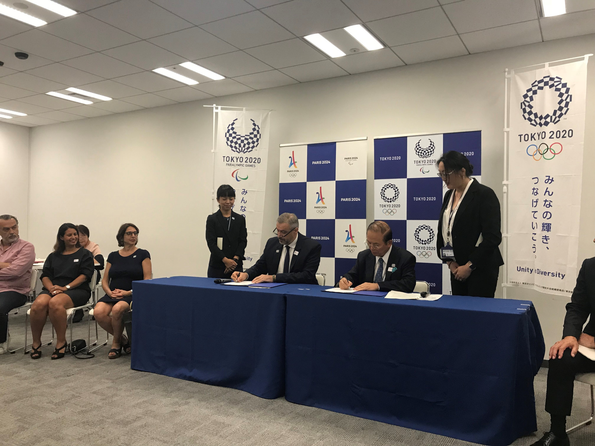 Tokyo 2020 and Paris 2024 sign Memorandum of Understanding on relations and cooperation