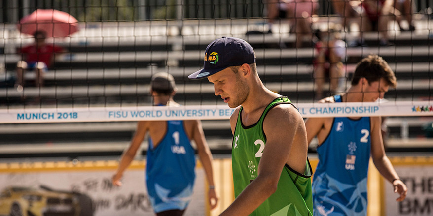 Home duo claim surprise win to reach quarter-finals at World University Beach Volleyball Championship