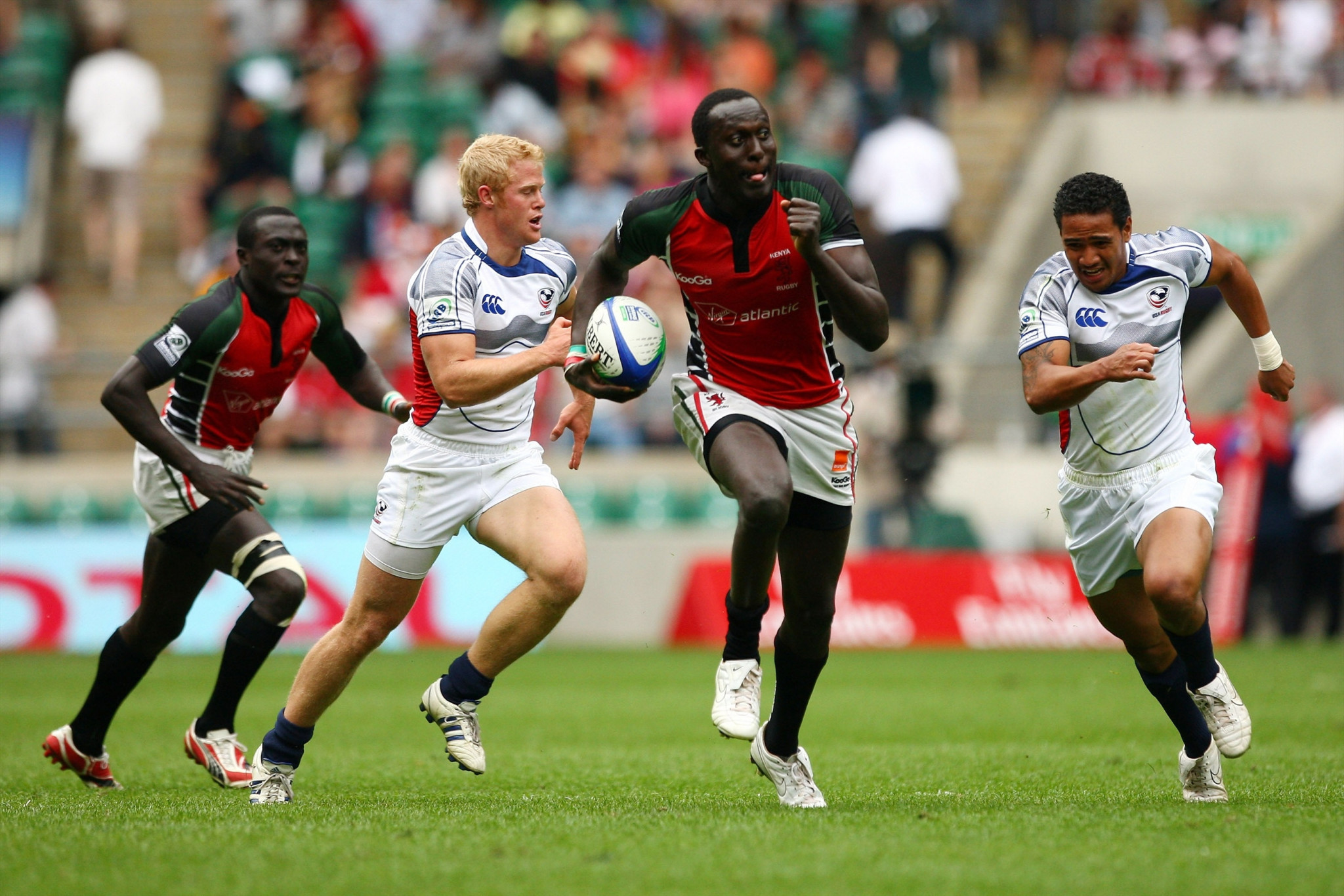 Humphrey Kayange is considered one of Kenya's greatest players and in 2009 was nominated for World Sevens Player of the Year after leading his side to the World Cup semi-final ©Getty Images