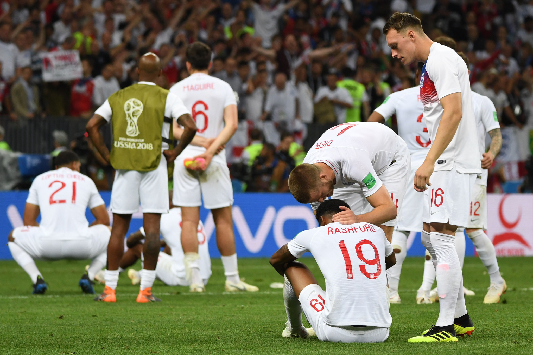 England players are distraught at the final whistle ©Getty Images