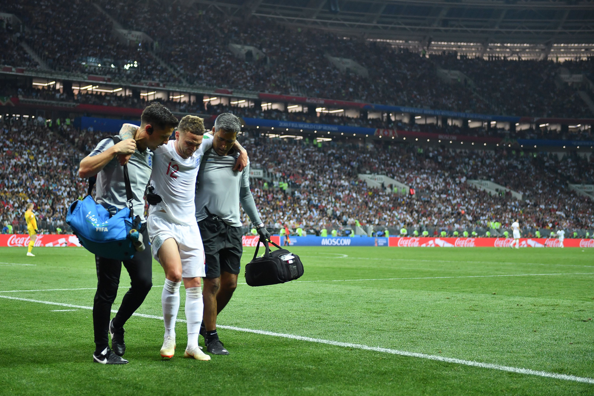 Kieran Trippier then hobbled off in extra time with a groin injury ©Getty Images